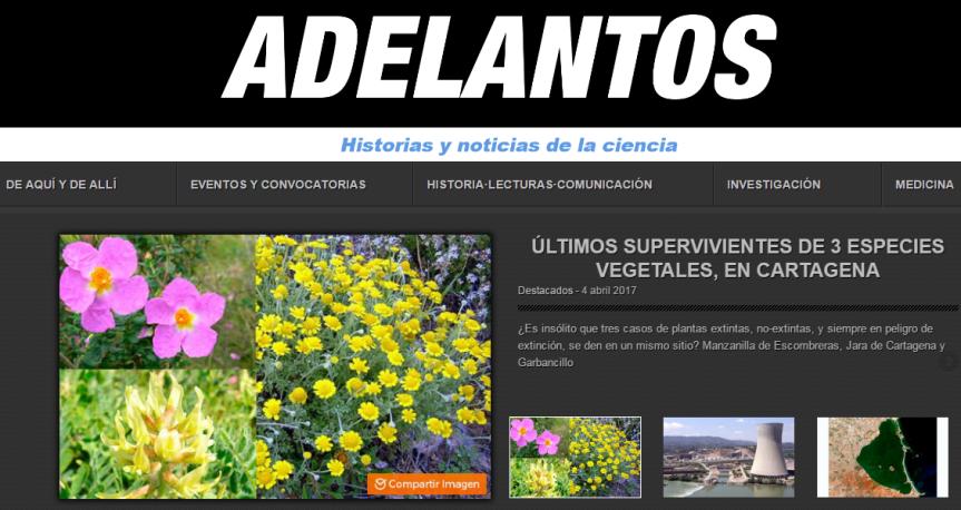 La revista Adelantos publica un artículo sobre la jara deCartagena